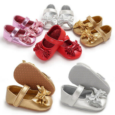 Toddler Baby Shoes Newborn Girl Soft Sole Princess Crib Shoes Prewalker 0-18M AU