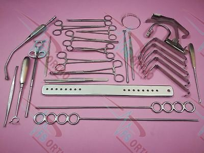 Tonsillectomy Set of 20 Pieces ENT Surgical Instruments Excellent Quality By Fs