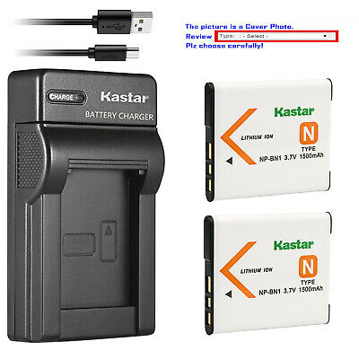 Kastar Battery Slim Charger for Sony NP-BN1 BC-CSN & Sony Cyber-shot DSC-W800