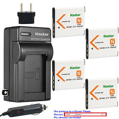 Kastar Battery Slim Charger for Sony NP-BN1 BC-CSN & Sony Cyber-shot DSC-W830
