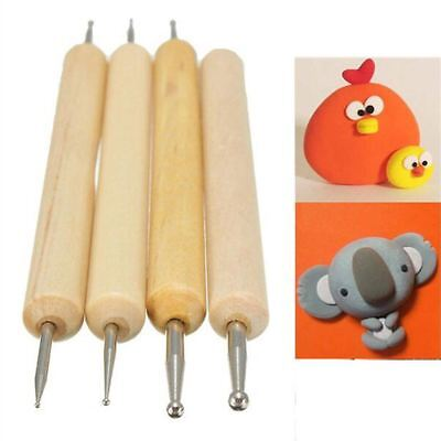 Practical Pack of 4pcs Ball Stylus Polymer Clay Pottery Ceramics Sculpting Model
