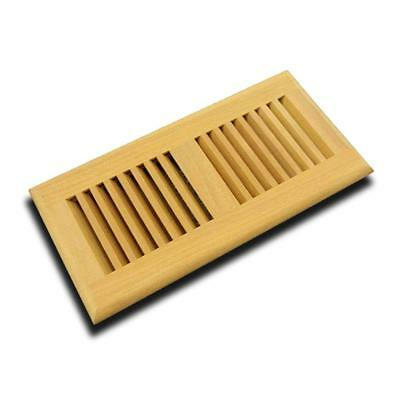 Vent Floor Register Self Rimming Unfinished,6x12Inch, Santos Mahogany,by Welland
