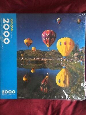 Springbok Puzzle Flying Colors 2000 Pieces Hot Air Balloons Hallmark New Sealed