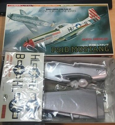 1/32 Forma Rubber Band Plane Flying Model P-51D Mustang - UNION Model