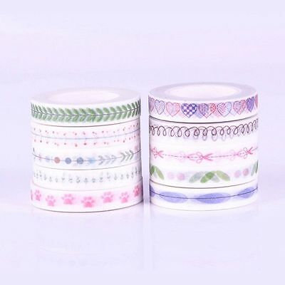 DIY 10 Roll 10M Hand Painted Washi Tape Scrapbooking Craft Paper Sticky  pre
