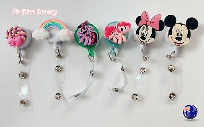 Cute Pony Retractable Badge Holder Reel Swipe Card Security ID Pull Key Tag Clip