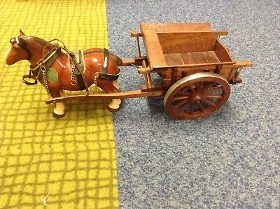 Vintage Melba Ware Horse And Cart Ornament