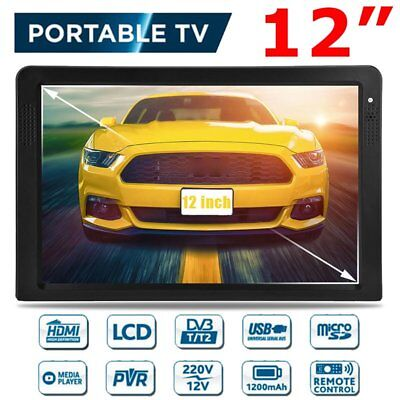 "12"" Portable Color-TFT-LED HD-TV Player In-Vehicle Screen Television DVB-T MP3/4"