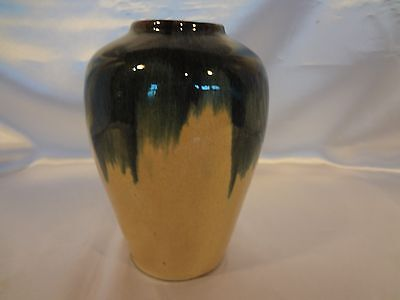 Muncie Pottery - Richly Colored Gold & Slate Urn-shaped Blended Glaze Vase - 6""
