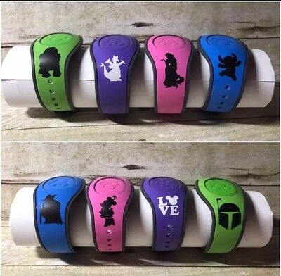 NEW Disney PERSONALIZED Disney Magic Band Magicband ALL COLORS Get 2 DECALS