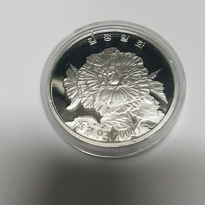 Korea 2004 Great Leader Symbol President Flower 45mm Aluminum Proof Coin