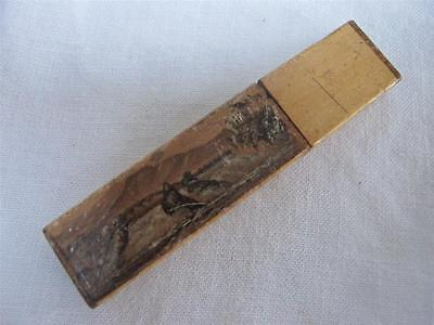 Antique Victorian Spa Ware Painted Wood Treen Sewing Needle Case - Chute Du Rhin