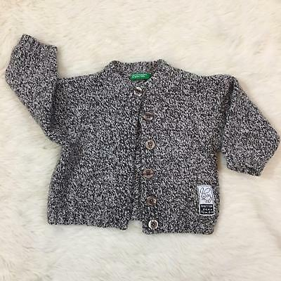 United Colors Of Benetton Baby Boy Girl Wool Blend Sweater Size 9/12 Mo Euc
