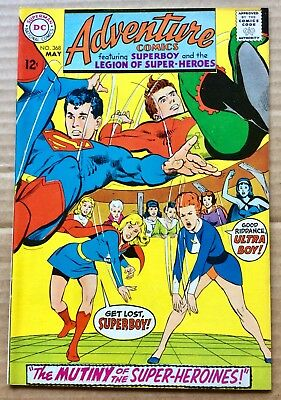ADVENTURE COMICS #368 (1968) DC Silver Age Superboy, Legion of Super-Heroes VF+