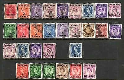 BAHRAIN and KUWAIT, GB Overprints, a small range Mounted Mint and Used (29)