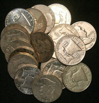Franklin Half Dollars , 90% Silver Coin Lot, Circulated, Choose How Many! (TH)