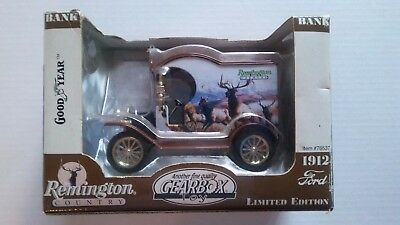 "1999 Remington Country Elk 1912 Ford Model ""T"" Die Cast Metal Bank #76537"