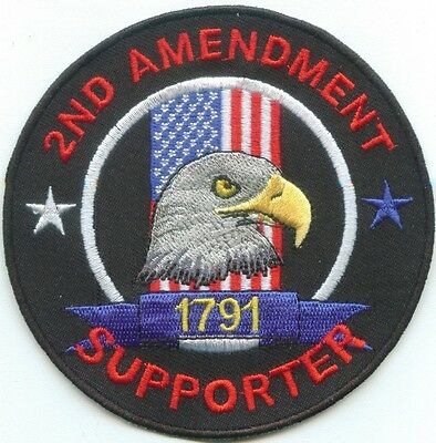 2nd Amendment Supporter Embroidered Biker Patch Military Patch Veterans Patch