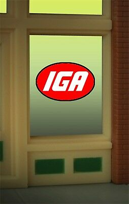 Miller's IGA Grocers Animated Neon Window Sign #8915 O/O27 HO scale