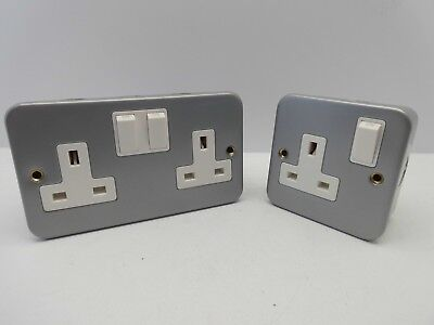 Click Cl035 Cl036 1 Gang 2 Gang Metal Clad 13 Amp Single Double Socket Switched