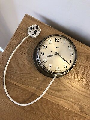 Ferranti Small Industrial Electric Wall Clock School Factory Vintage Spares