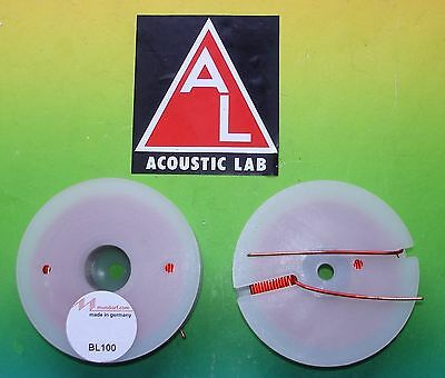 2xMUNDORF BL100 2,2mh Backlack Luftspule Frequenzweiche air coil audio crossover