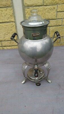 Vintage Tea or coffee infuser urn with paraffin heater