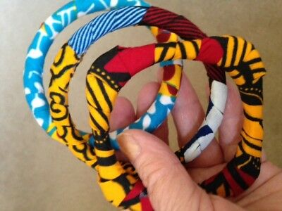 African bracelets, set of 3, hand made NEW never worn