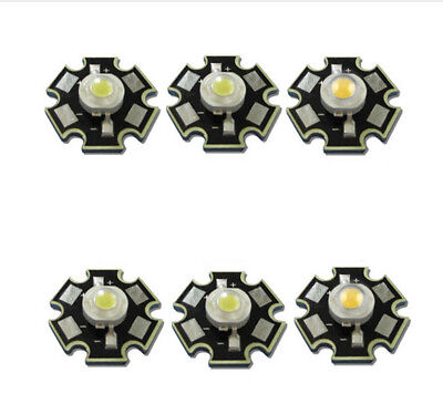 10pcs Real Full Watt CREE 1W 3W High Power LED lamp Bulb Diodes SMD 110-120LM LE