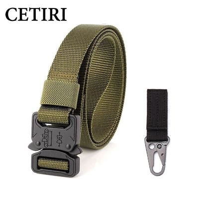 tactical belt heavy duty waist belt military equipment nylon belts with quick-re