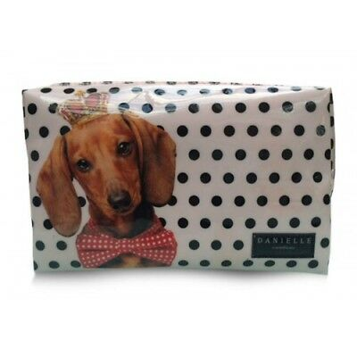 Dachshund Sausage Dog Weiner Dog Cosmetic Make Up Bag BNWT