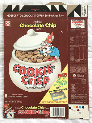 Vintage 1980 1980's Ralston Purina Cookie-Crisp Cereal Box Jarvis School Kit