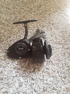 Vintage fishing reel Ted Williams 410 rare made in Italy spinning by Zangi.