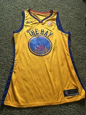 newest 27a21 a6434 ADULT GOLDEN STATE Kevin Durant Nike Black Swingman ...