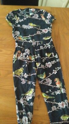 Girls Ted Baker Age 6-7 Years Birds All In One Jumpsuit