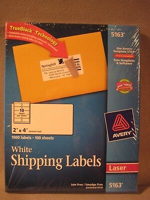 avery laser labels 5163 white 2 x 4 5 00 picclick