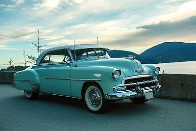 Chevrolet: Bel Air/150/210 Deluxe 1952 2-door Chevy Deluxe Bel-Air in Surf Green with White hardtop