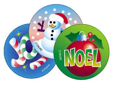 60 Christmas (Peppermint) Scratch and Sniff Reward Stickers n'