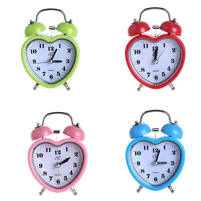 Alarm Clock for Heavy Sleeping, Twin Bell Silent Movement Clocks for Kids 4Color