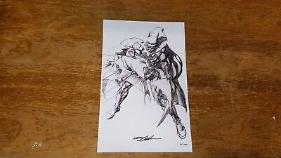 "Batman Art Neal Adams 11"" x 17"" Signed Print DC Comic Collectible TB1"