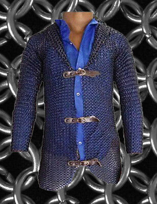 New Chainmail Coat 9 mm 16 Gauge Round Ring Butted Medieval Armor