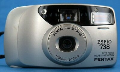 Pentax Espio 738 38-70mm Zoom Lens Compact 35mm  Film Camera Lomo Retro