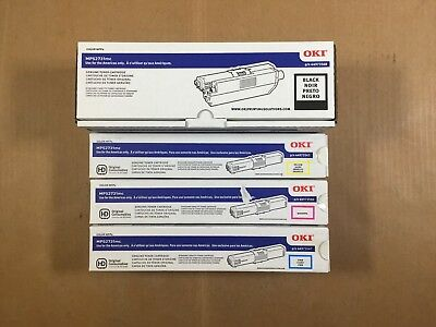 Genuine Oki MPS2731mc CMYK Toner Set 44973568 44973567 44973566 44973565