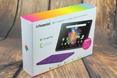 Polaroid 10.1 inch Tablet with Wireless Keyboard Case Cover Accessories - Purple