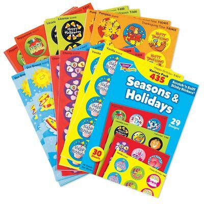 435 Scratch and Sniff Stinky Reward Stickers Seasons Holidays Variety Pack