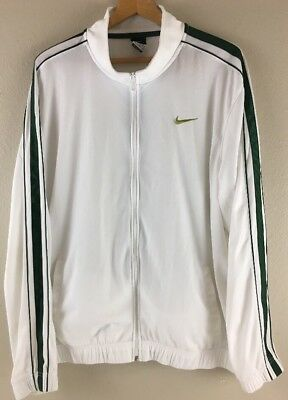 b08679253a9b Men s Nike Warm Up Jacket XL Track White Green Stripes X Large With Defects