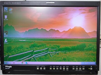 TVlogic LVM 241W MultiFormat LCD Monitor For Parts or Repair