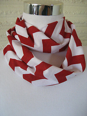 Baby TODDLER Child Red Chevron stripe jersey knit Infinity Scarf PHOTO PROP