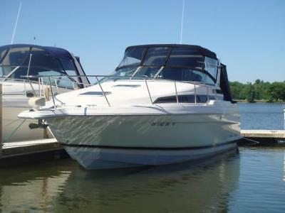 1995 Wellcraft 3200 Martinique~465 Hours~TWIN 320hp Mercruiser~AC~NEW CANVAS!