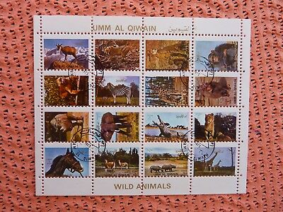 Briefmarken Umm Al Qiwain Wild Animals Wilde Tiere